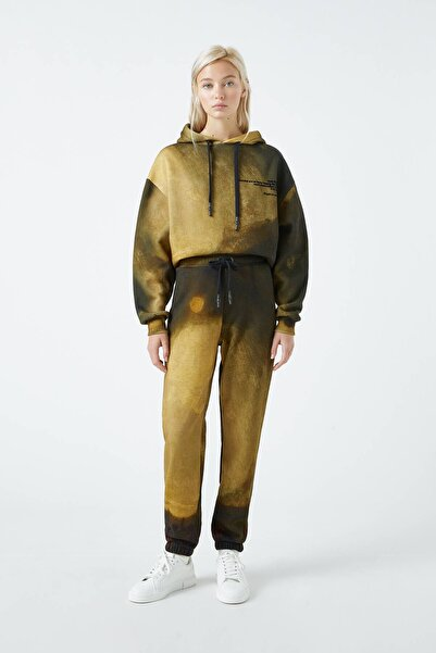 Pull & Bear Kadın Renkli Tate Art Collection Turner Desenli Pantolon 04677367