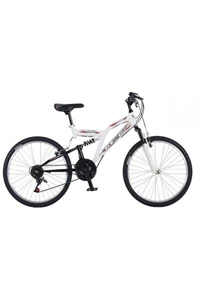 TEC Beyaz Black 24 Jant 21 Vites Çift Amortisörlü Dağ Bisikleti