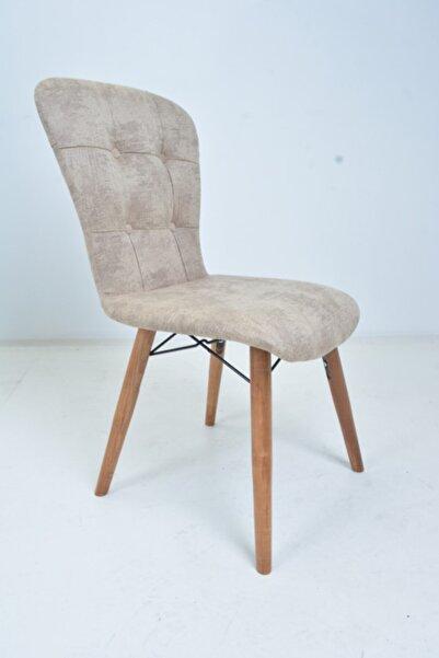 Mobildeco Ahşap Ayaklı Mutfak Sandalyesi Papel Sırtlı Bej