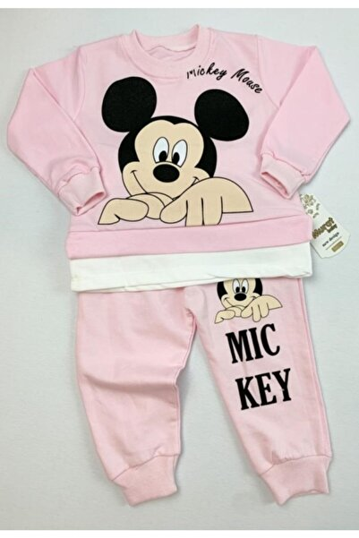 Baby Doss Kız Çocuk Pembe Mickey Mouse Baskılı Kıyafeti
