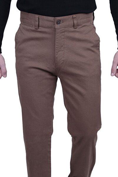 Canelia Erkek Camel Renk Pamuklu Yan Cep Klasik Kesim Pantolon