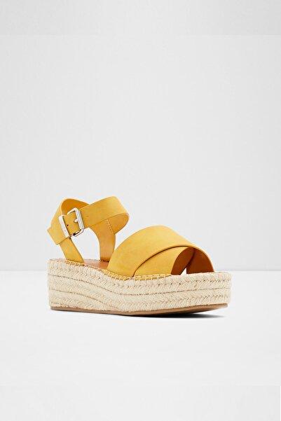 Aldo Tınevıel Sarı Kadın Dolgu Topuklu Sandalet