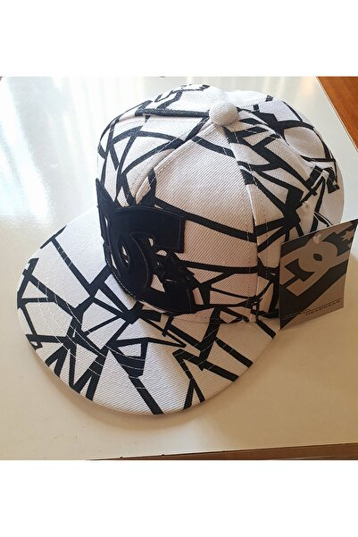 DC Unisex Siyah Desenli Tasarım Şapka