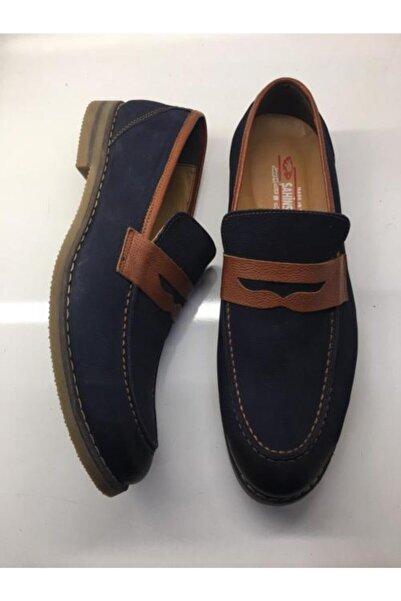 Şahin Erkek Lacivert Hakiki Deri Günlük Ayakkabı