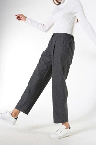 ALLDAY Kadın Gri Boru Paça Pantolon