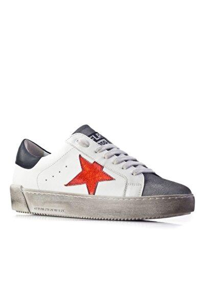 Cabani Kadın Beyaz Sneaker Ayakkabı Soft Deri