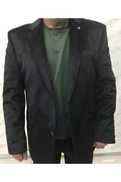 Zeyrek Erkek Siyah Klasik Kadife Ceket