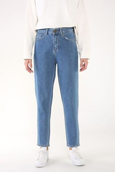 ALLDAY Kadın Mavi Mom Denim Pantolon