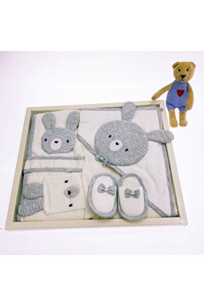 Gaye Bebe Tavşanlı Bornoz Seti