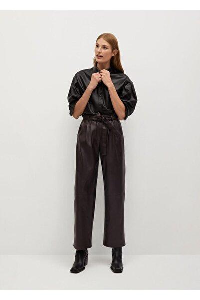 MANGO Woman Kadın Kahverengi Pantolon