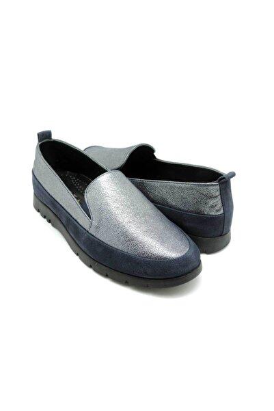 Delta Kadın Gümüş Günlük Deri Rahat Ayakkabı