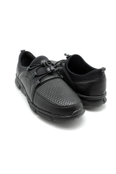 Delta Erkek Siyah Comfort Deri Ayakkabı