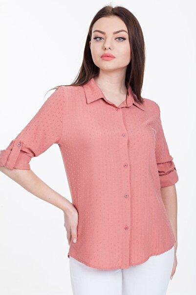 Mossta Kadın Pembe Gömlek