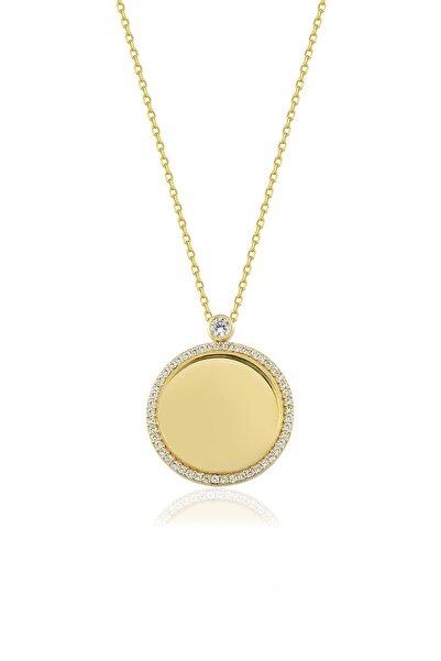 Genesis Kadın Altın Gümüş Taşlı Kişiye Özel İsimli Gümüş Kolye 925 Ayar