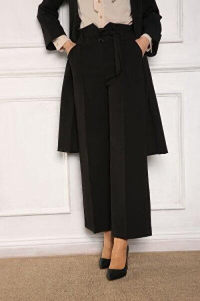 ALLDAY Kadın Siyah Kemer Detaylı Kuşaklı Pantolon