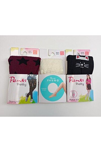 Penti Kadın 3lü Çocuk Külotlu Çorabı