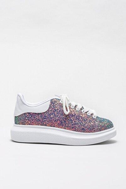 Elle Shoes ZANDA-2 Yesıl Gliter Kadın Casual Ayakkabı