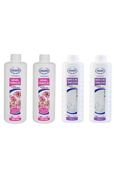 Ersağ Genel Temizlik * 2 Adet + Antibakteriyel Banyo & Wc Temizleyici * 2 Adet 1000 Ml