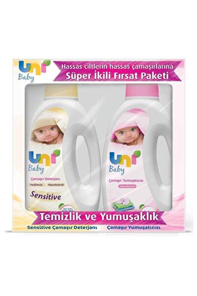 Uni Baby Çamaşır Deterjanı Sensitive 1500ml + Yumuşatıcı 1500ml