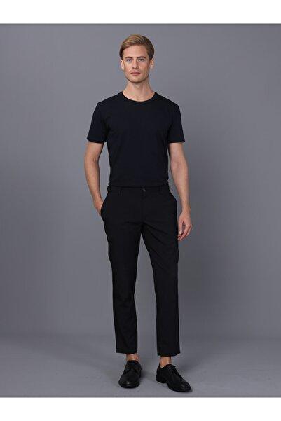 Basics&More Erkek Lacivert Bisiklet Yaka T-shirt