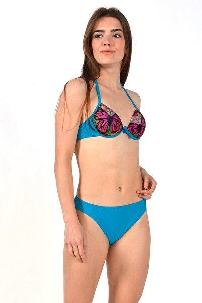 Mossta Kadın Turkuaz Yarım Destekli Bikini