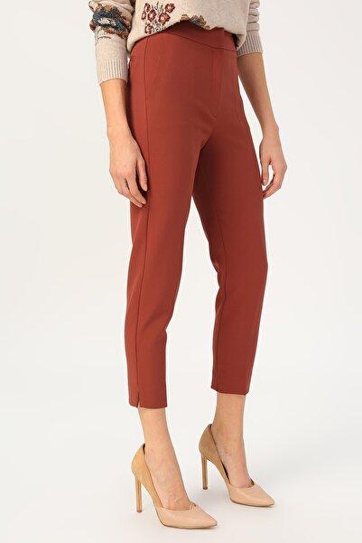 RANDOM Kadın Klasik Kesim Yüksek Bel Pantolon %85 Polyester %15 Elastane