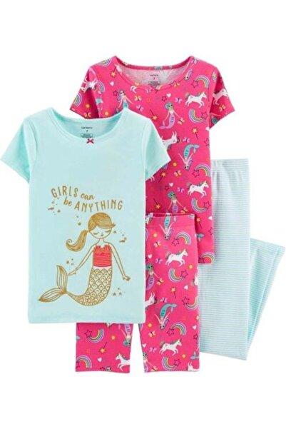 Carter's Carters Kız Çocuk Deniz Kızı Desenli 4'lü Fit Pamuk Pijama