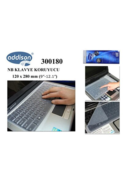 "ADDISON 300180 9""-12.1"" Notebook Klavye Koruyucu"