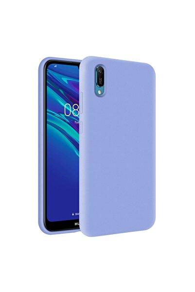 KZY İletişim Huawei Y6 2019 Içi Kadife Soft Logosuz Lansman Silikon Kılıf - Lila