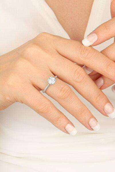 Mistik Silver Swarovski Taşlı Gümüş Nişan Yüzüğü