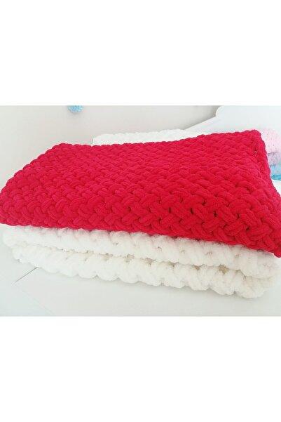 Puffy Kırmızı Bebek Battaniyeleri