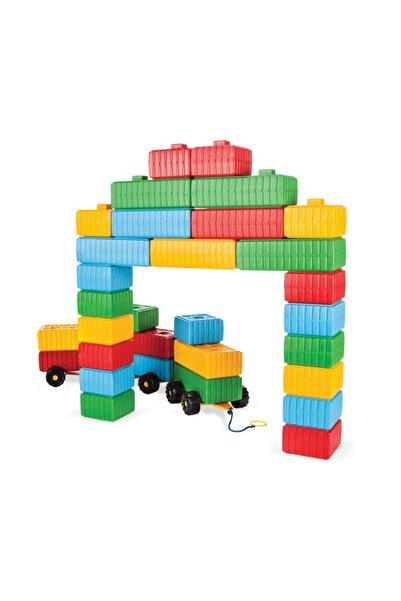 PİLSAN Eğitici Tuğla Blok Ve Araba Seti 43 Parça