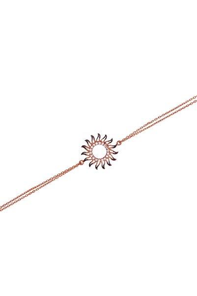 Afrodit Silver Kadın Rose Güneş Tasarım Gümüş Bileklik