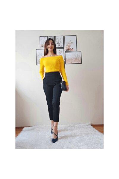 BSL Kadın Siyah Yüksek Bel Pantalon