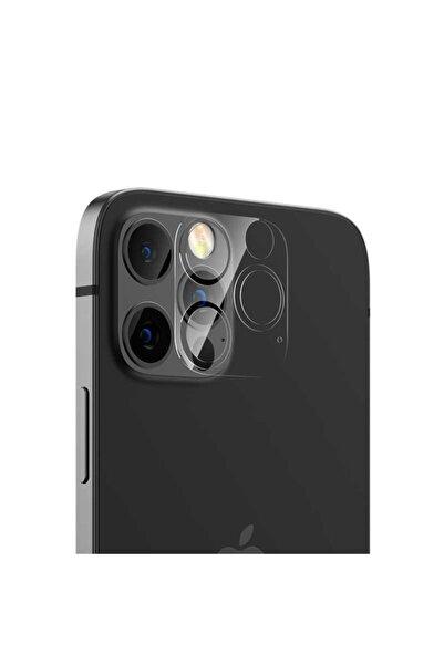 Benks Renksiz Apple Iphone 12 Pro Soft Kamera Lens Koruyucu Cam