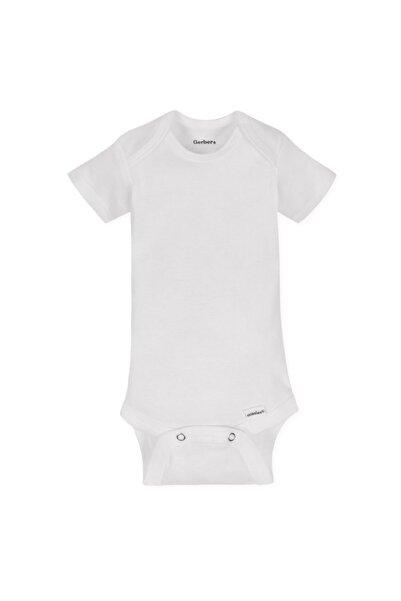 GERBER Unisex Bebek Beyaz Organik Body