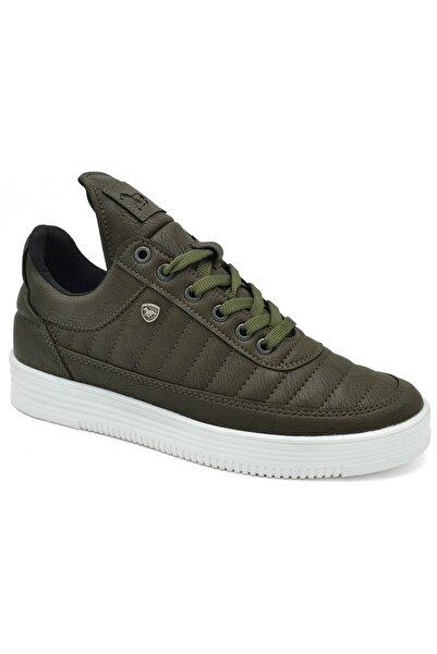 L.A Polo 07 Haki Beyaz Sneaker Erkek Spor Ayakkabı