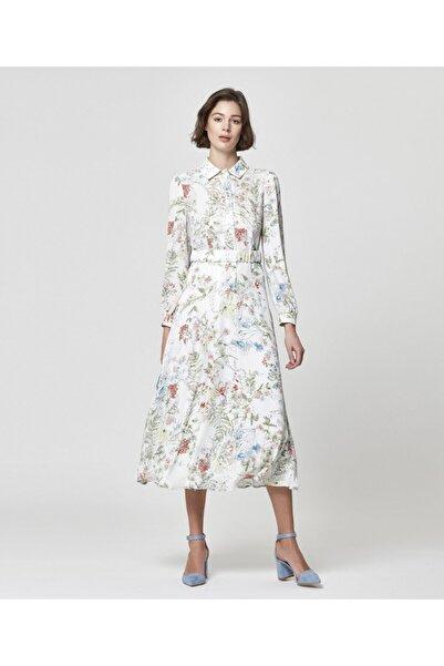 Aker Kadın Kemerli Emprime Elbise R41117102