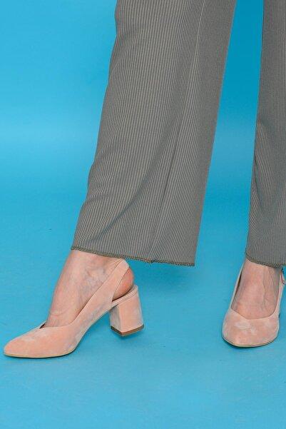 Mossta Kadın Pembe Süet Ayakkabı
