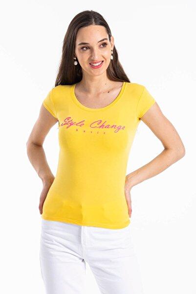 Mossta Kadın Sarı Sırt Dekolteli Body