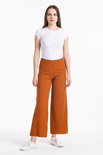 Mossta Kadın Kahverengi Kaşkorse Bol Pantolon