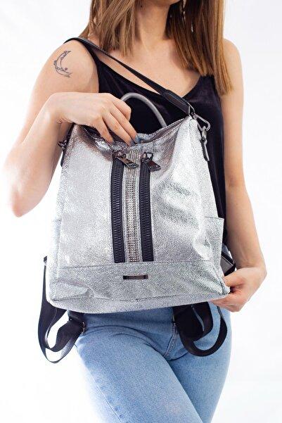 Limoya Bags Kadın Gümüş El Ve Sırt Çantası