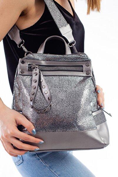 Limoya Bags Kadın Gümüş Maggie Sırt Çantası