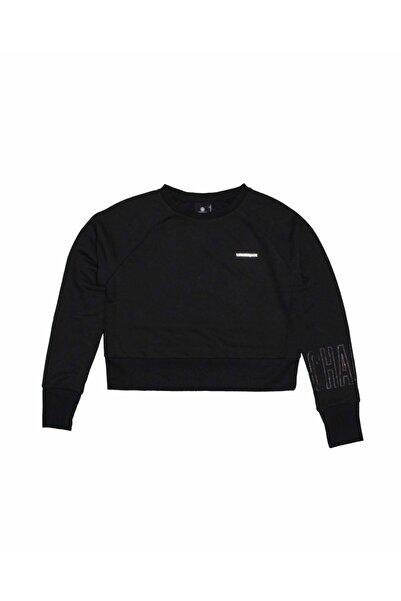 lumberjack Kadın Siyah 0w Marta Sleeve Detail Sweatshirt As00499005