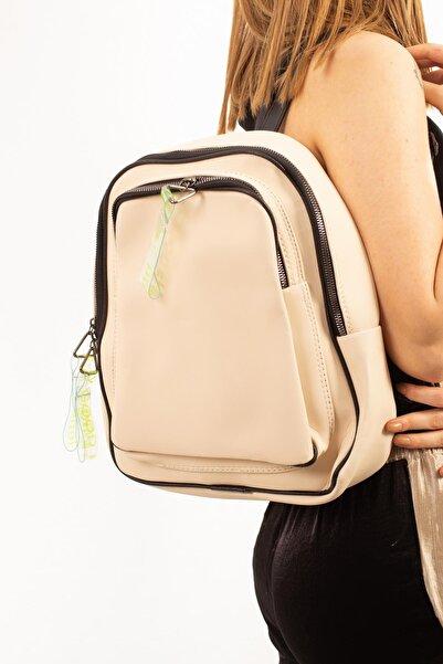 Limoya Bags Kadın Ekru Sırt Çantası