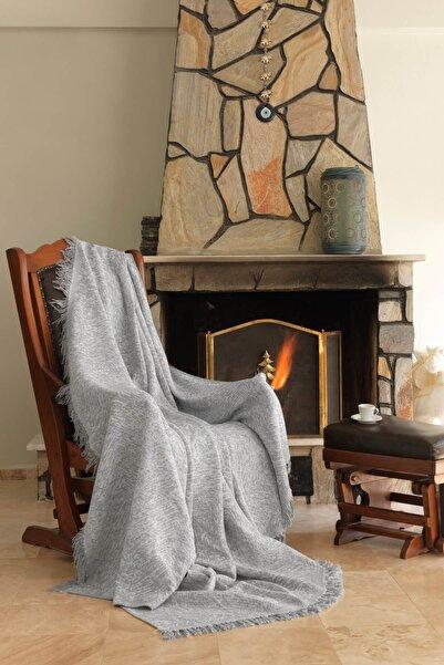 Ev & Ev Home Linen Gri Keten Koltuk Örtüsü 170x220 cm
