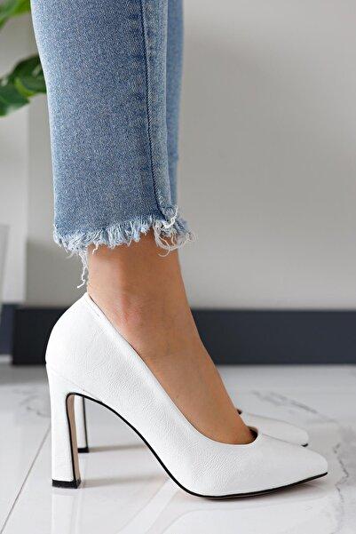 Limoya Kadın Beyaz Topuklu Ayakkabı
