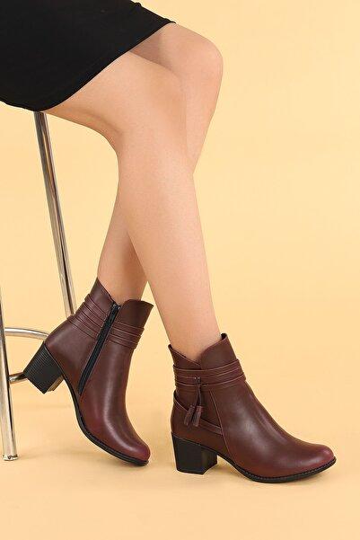 Ayakland 8423-832 Cilt 6 Cm Topuk Termo Taban Bayan Bot Ayakkabı