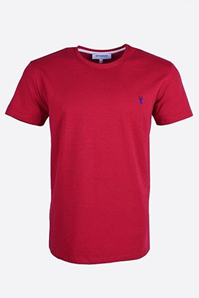 Ottomoda Erkek Basic Bordo T-shirt