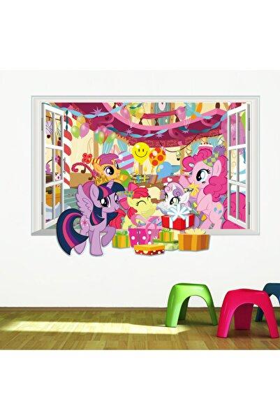 CRYSTAL KIDS Pony Doğumgünü Partisi Bebek Ve Kız Çocuk Odası Duvar Süsü Duvar Sticker